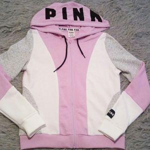 PINK lilac colorblock hoodie NWOT